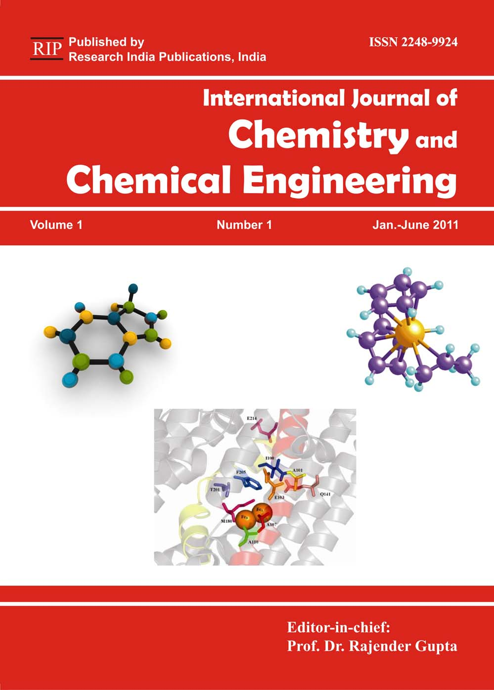 ijcce international journal  chemistry  chemical engineering computer science journals